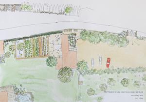 plano diseño jardín baix emporda
