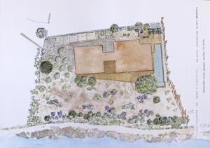 plànol disseny jardí cadaqués