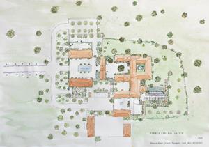 plano diseño jardín extremadura