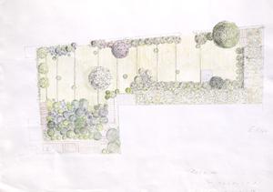 plano diseño jardín l'estartit