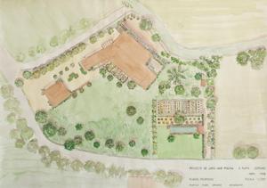 plano diseño jardín rupià